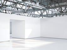 Interior vazio brilhante da galeria rendição 3d Imagem de Stock Royalty Free