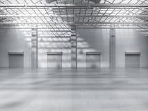 Interior vazio da fábrica Fotografia de Stock Royalty Free