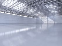 Interior vazio da fábrica Foto de Stock