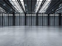 Interior vazio da fábrica Fotos de Stock Royalty Free
