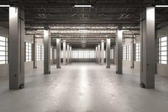Interior vazio da fábrica Foto de Stock Royalty Free