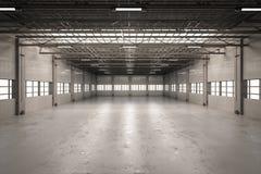 Interior vazio da fábrica Imagem de Stock Royalty Free