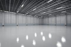 Interior vazio da fábrica Imagens de Stock Royalty Free
