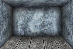 Interior vazio da sala com cimento velho Foto de Stock