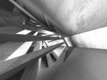 Interior vazio da sala do porão escuro Muros de cimento ilustração do vetor