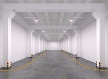 Interior vazio do armazém Fotos de Stock