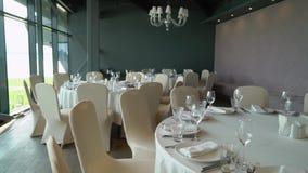 Interior vazio do restaurante filme