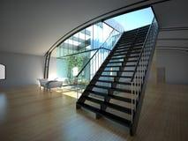 Interior vazio moderno com planta e sofá Fotografia de Stock Royalty Free