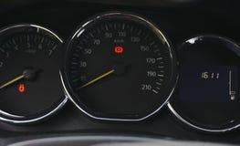 The interior of the vehicle speedometer stock image