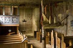 Interior velho da igreja Fotos de Stock