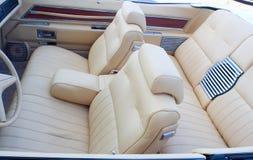 Interior velho do cabriolet Foto de Stock Royalty Free