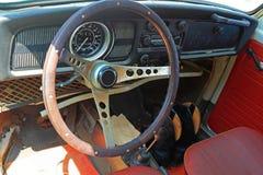 Interior velho do carro Foto de Stock Royalty Free
