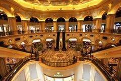 Interior veneciano del casino, Macao imagen de archivo libre de regalías