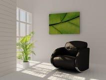 Interior verde Imagens de Stock