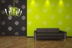 Interior verde Fotos de archivo