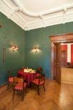 Interior verde clásico Foto de archivo libre de regalías