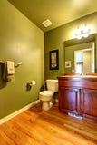 Interior verde del cuarto de baño Fotografía de archivo