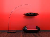 Interior vermelho Imagens de Stock