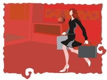 Interior vermelho da cozinha Imagens de Stock