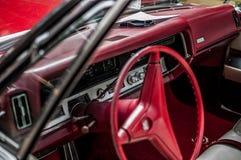 Interior vermelho do carro Fotografia de Stock