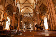 Interior of Verona Cathedral Royalty Free Stock Photo