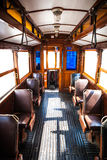 Interior of very old tradition tram Stock Photos