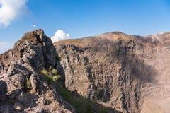 Interior of the Vesuvius crater Stock Images