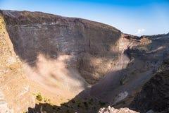 Interior of the Vesuvius crater Stock Photos