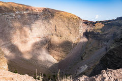 Interior of the Vesuvius crater Royalty Free Stock Image