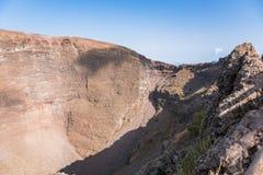 Interior of the Vesuvius crater Royalty Free Stock Photo