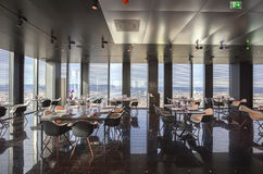 Interior of Vienna contemporary restaurant in sky Royalty Free Stock Photography