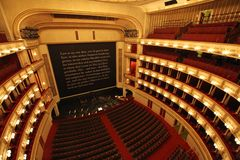 Interior of Vienna State Opera. View from balcony Royalty Free Stock Image