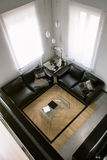Interior view from above the modern living room Royalty Free Stock Image