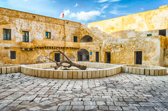 Interior view of the Angevine-Aragonese Castle in Gallipoli, Ita Stock Images