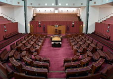Interior view of the Australian Senate in Parliament House, Canberra Royalty Free Stock Photo