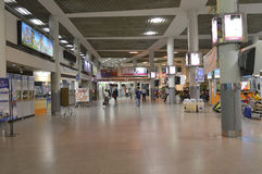 Interior view of Bangkok city bus station Morchit terminal Royalty Free Stock Images