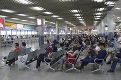 Interior view of Bangkok city bus station Morchit terminal Stock Photo