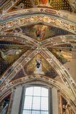 Interior view of Basilica De Sante Croce. Florence, Italy, June 11, 2015: Interior view of Basilica De Sante Croce, with amzing artwork, Florence, Italy stock photography