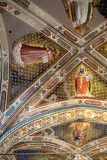 Interior view of Basilica De Sante Croce. Florence, Italy, June 11, 2015: Interior view of Basilica De Sante Croce, with amzing artwork, Florence, Italy stock images