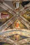 Interior view of Basilica De Sante Croce. Florence, Italy, June 11, 2015: Interior view of Basilica De Sante Croce, with amzing artwork, Florence, Italy stock image