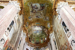 Interior view of Basilica dell'Annunziata Stock Photography