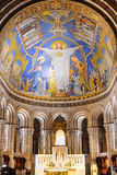Interior view of the Basilica of the Sacred Heart of Paris, commonly known as Sacre-coeur Basilica Royalty Free Stock Photo