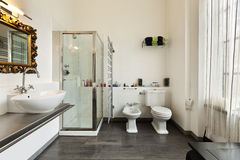 interior, view of the bathroom Royalty Free Stock Photo