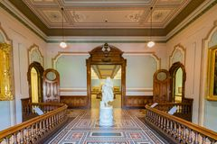 Interior view of the beautiful Crocker Art Museum Royalty Free Stock Photography