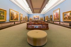 Interior view of the beautiful Crocker Art Museum Royalty Free Stock Images