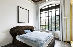 Interior, view of the bedroom Royalty Free Stock Photos
