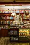 Interior view of a candy shop in New Forest National Park. United Kingdom, NOV 8: Interior view of a candy shop in New Forest National Park on NOV 8, 2015 at stock images