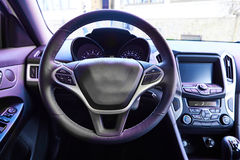 Interior view of car Stock Photos