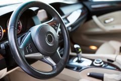Interior view of car Royalty Free Stock Images