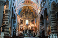 Interior view of the Cathedral of Pisa. Stock Images